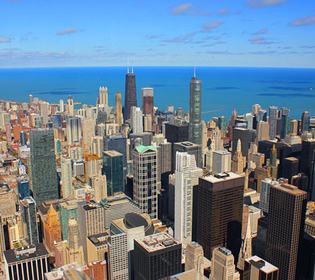 John J. Trakselis, City of Chicago View from Willis Tower